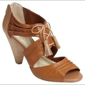 SEYCHELLES X ANTHROPOLOGIE Whiskey leather heel